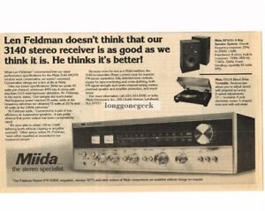 Collectibles Merchandise & Memorabilia 1977 Miida 3140 Receiver Stereo Hi-fi Vtg Print Ad