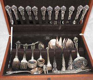 94-Pieces-Set-Of-Gorham-Sterling-Silver-Sliverware-Melrose-Pattern-Marked
