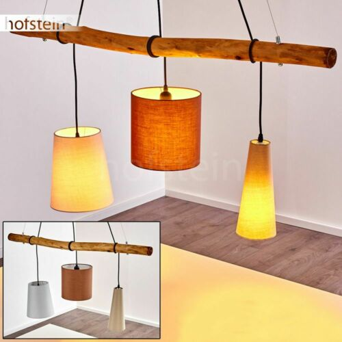 Vintage Ess Wohn Schlaf Raum Beleuchtung Hänge Lampe Stoff//Holz Pendel Leuchte