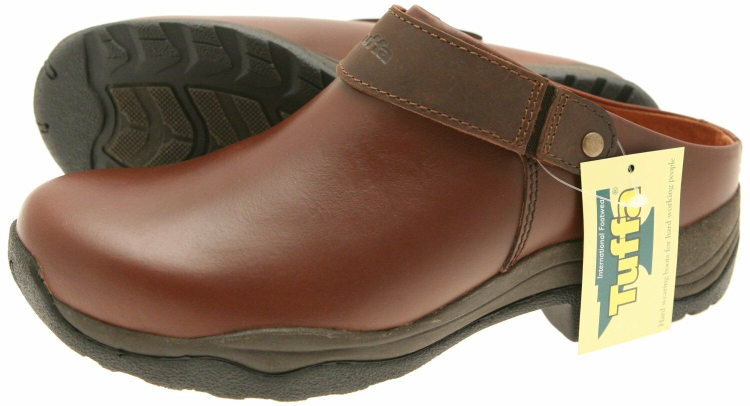 TUFFA CARLOW LEATHER CLOG BROWN HORSE PONY EQUINE  GREAT FOR SPRING OR SUMMER  various sizes