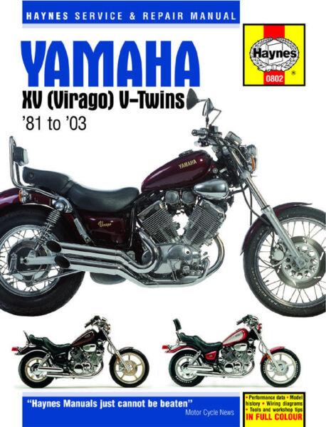 19812003 yamaha virago xv 535 750 1100 haynes service
