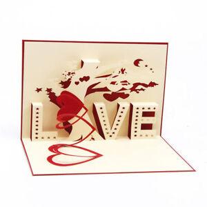 3D-Pop-Up-Grusskarten-Love-Tree-Valentinstag-Geschenkkarten-Liebe-Love-10x15-cm