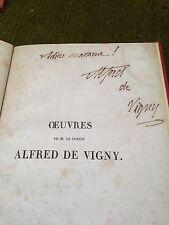 paris elevation .a.de vigny - scarce signed copy from 1846