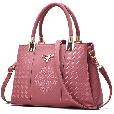 Ladies Stylish Pink Pocketbook /&Handbag Fashion Leather Purse Shoulder Tote Bag