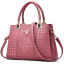 Ladies Stylish Pink Pocketbook /&Handbag Fashion Leather Purse Shoulder Tote Bag