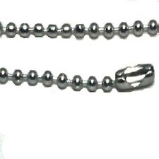 Stainless Steel 18 Inch 2mm Ball Link Neck Chain Necklace