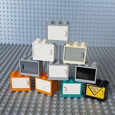 Lego 4532 4533 Container Schrank Box mit Tür Minifigur viele Farben Auswahl 19