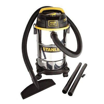 New Stanley Stainless Steel 5 Gallon 4.5 Peak HP Wet/Dry Shop Vacuum Blower Vac