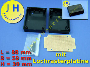 universal kunststoff geh use plastic case mit lochrasterplatine pcb a117 ebay. Black Bedroom Furniture Sets. Home Design Ideas