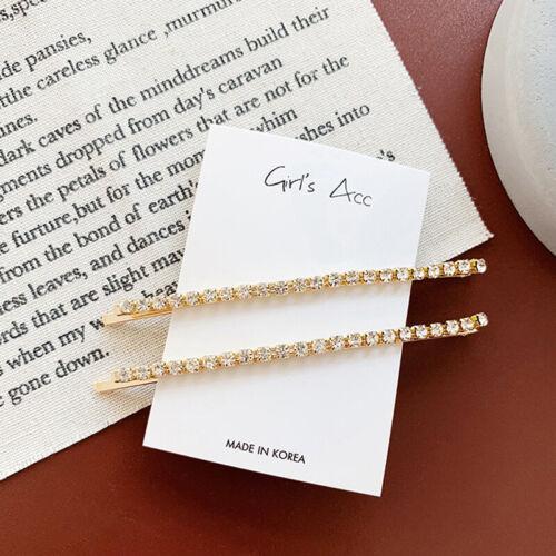 1Pair Women/'s Fashion Rhinestone Hair Clip Pin Crystal Hairpin Slide Barrettes