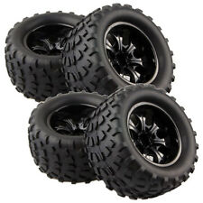 4pcs RC Rubber Sponge Tires Tyre Wheel Rim HSP 1:10 Monster Bigfoot Truck 88035