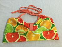 Zara Terez Citrus Bikini Halter Top W/coral Straps Girls' Size L