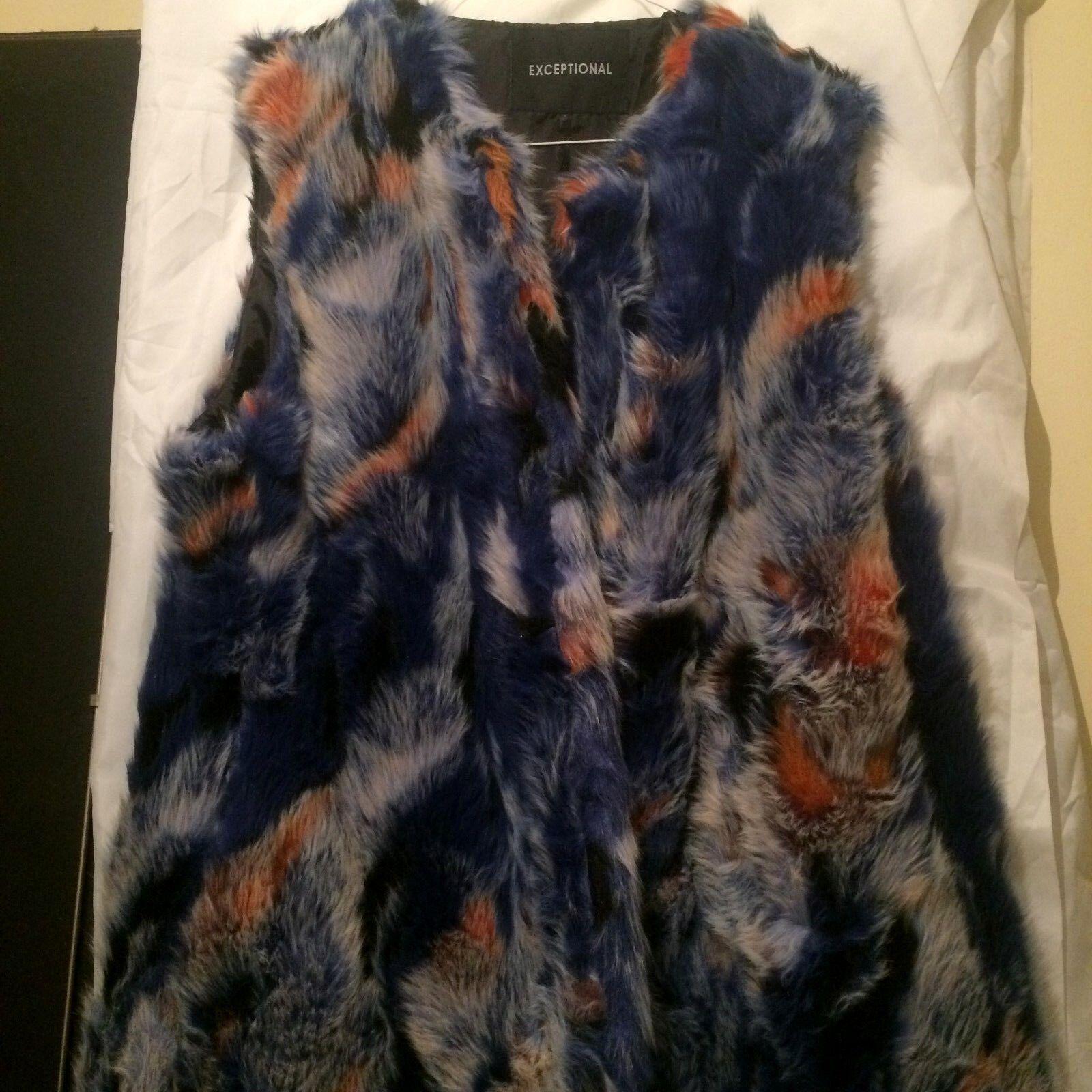 Varios Colors imitación piel sin mangas para mujer Chaqueta  de Abrigo de invierno cálido Reino Unido sin cuello  diseño simple y generoso