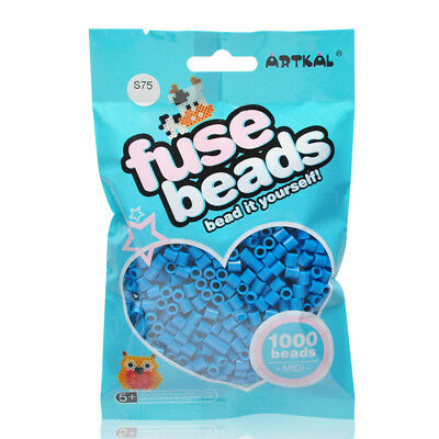 Bügelperlen Fuse Beads Creativsets Billiger Preis Artkal 1000 Midi Bügelperlen 5mm Dark Steel Blue S75