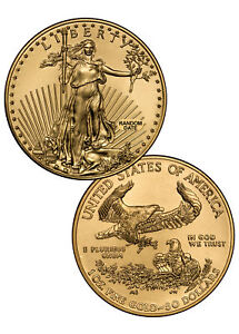 RANDOM-DATE-1-oz-Gold-American-Eagle-50-Gem-BU-Coin-SKU26177