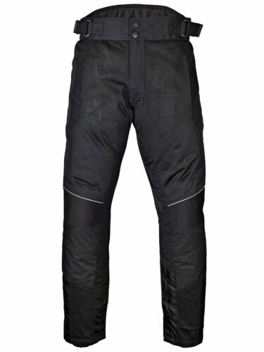 WICKED STOCK Mens Motorcycle Mesh Pants Full Leg Zipper Black//Gray PT08