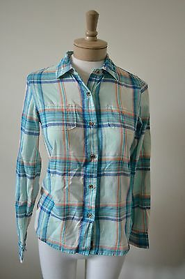 The North Face Blue Plaid Button Down Shirt XS