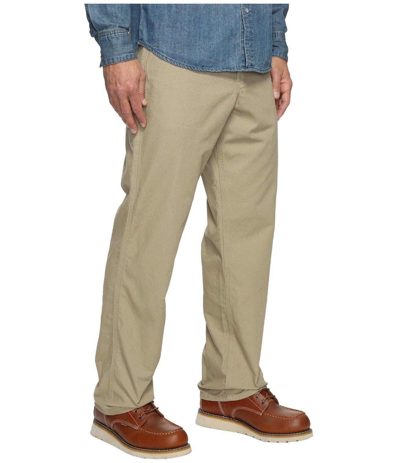 Carhartt Men Pants Loose Fit Canvas Carpenter Straight Leg golden Khaki 40 x 32