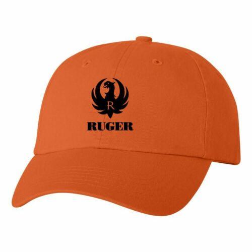 Ruger Logo Dad Hat Pro Gun Brand 2nd Amendment Ball Cap Pistol Rifle New Orange