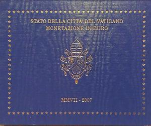 RARE E OFFICIEL COFFRET 8 PIECES DE 1 CT à 2€ VATICAN 2007 BENOIT XVI UNC-Neuve