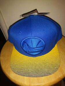 check out eaba6 d25e6 Image is loading Golden-State-Warriors-Cap-Mitchell-amp-Ness-Snapback-