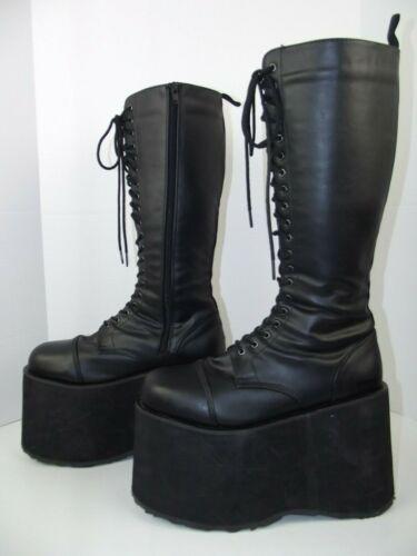 Demonia Black Platform Boots Goth High Zipper Wome