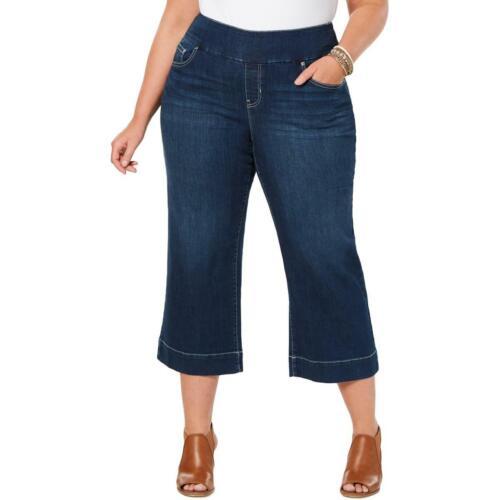Womens Blue Denim Wide Leg Crop Jeans Plus 14W BHFO 6158 Style /& Co