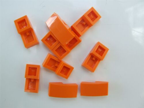 10 x Lego Orange Plate with bow 1x2x2//3-6055069 Parts /& Pieces
