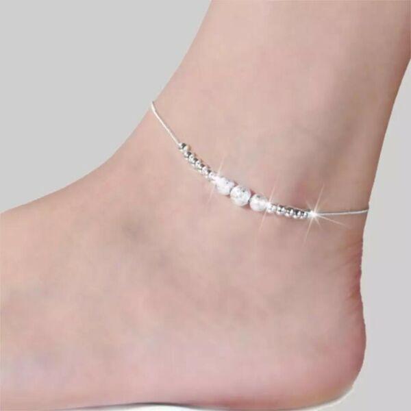 Fußkette - Fußkettchen 925 Silber Vintage Boho Bohemian Damen Woman ???? Neu Bestellungen Sind Willkommen.