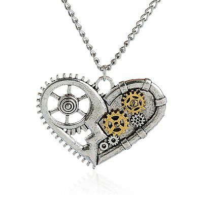 Hot Retro Vintage Mixed Charm Steampunk Gear pendant necklace Men's Jewelry Gift