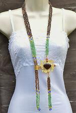 Ottomam Gems semi precious stone gold necklace choker  Jade Agates Handmade