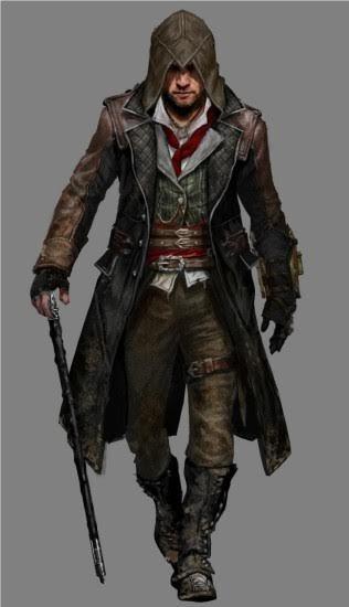 Jacob Frye Assassin's Creed Syndicate  Herren Leder Trench Coat Costume-BNWT