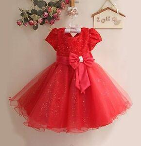 Baby-Natale-Matrimonio-Flower-Girl-Damigella-D-039-onore-Abito-Da-Party-occasione-3-mesi-8-ANNO