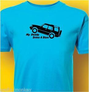Kids-034-Disco-034-Land-Rover-T-Shirt