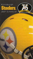 2007 PITTSBURGH STEELERS FOOTBALL POCKET SCHEDULE
