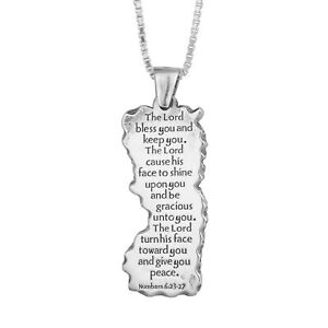 Double-Sided-Pendant-Kabbalah-Priestly-Blessing-Birkat-Kohanim-Sterling-Silver