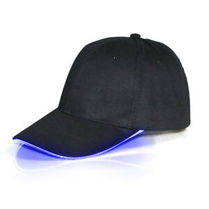 LED-Shin-Lighted-Up-Hat-Baseball-Hip-Hop-Adjustable-Sports-Club-Party-Caps