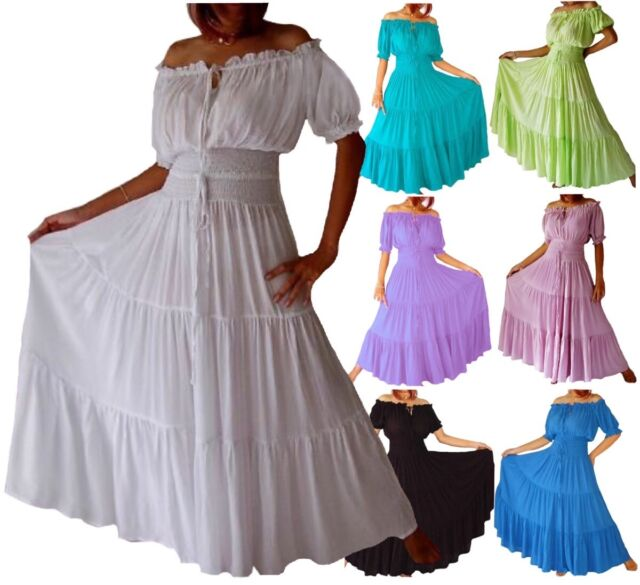 Peasant Maxi Dress Smocked Bodice MADE TO ORDER LotusTraders A7630 Plus Sizes
