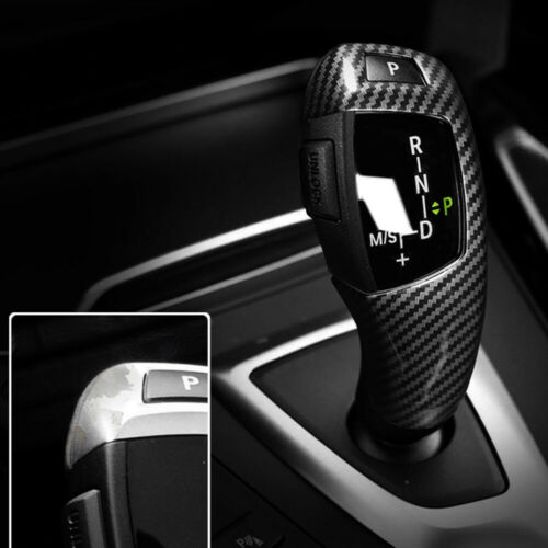 Carbon Style Gear Shift Knob Cover For BMW F20 F22 F30 F32 F10 F12 X3 X4 X5 X6