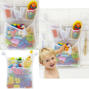 Bath Tub Organizer Bag Holder Storage Basket Kids Baby Shower Toys