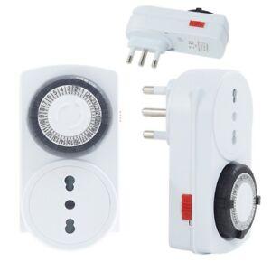 Presa-Elettrica-Temporizzata-Timer-24-H-Programmabile-Clock-Analogico-Spine-linq