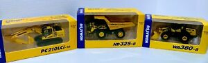 Construction-Diecast-Komatsu-Excavator-Dump-Truck-Wheel-Loader-Ship-from-Japan