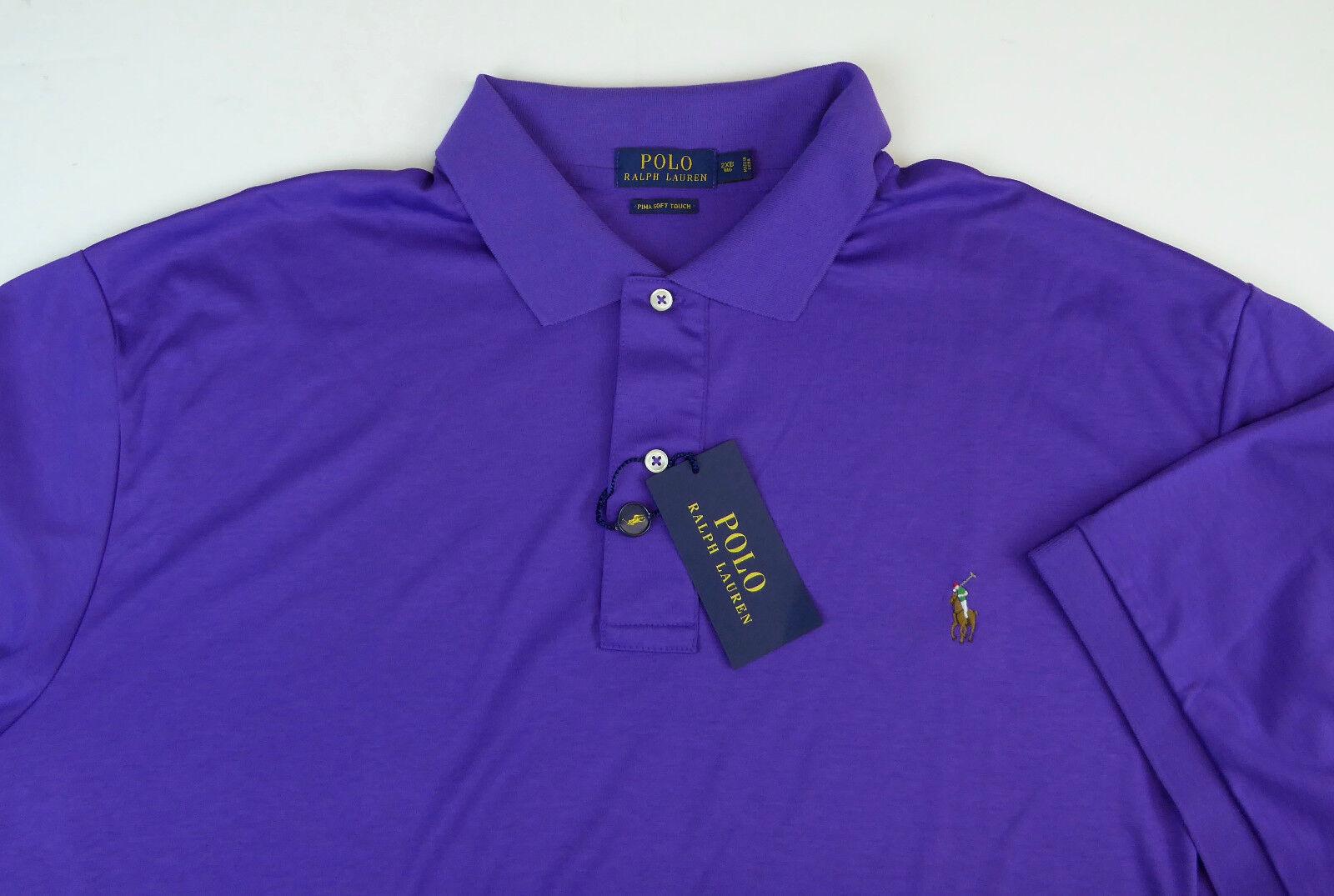9b028d60 Polo Ralph Lauren Pima Soft Touch Shirt Vista Purple Cotton Mens ...