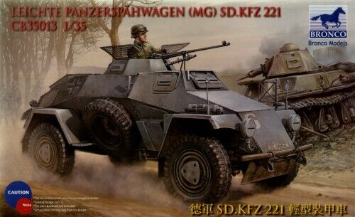 Bronco 1//35 Leichte Panzerspahwagen MG Sd.Kfz.221 # CB35013