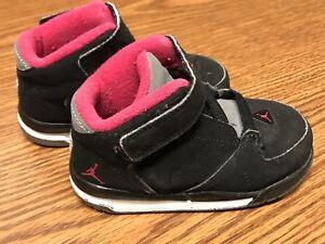 the best attitude 17776 eabdd Nike 467891 008 Air Jordan 1 Flight Black Red Toddler Baby ...