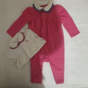 fdb4f9e36 baby girls designer romper outfit AGE 0 3 6 9 12 months  NEW