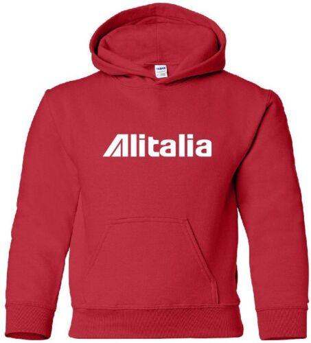 Alitalia Retro Logo Italian Airline Aviation Hoody