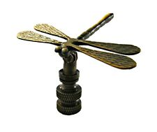 FS Highly detailed metal casting Lamp Finial-DRAGONFLY-Polished Brass Finish