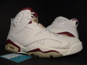 Nike Air Jordan VI 6 Retro OFF WHITE NEW MAROON INFRARED RED 384664 ... 5af2c9530