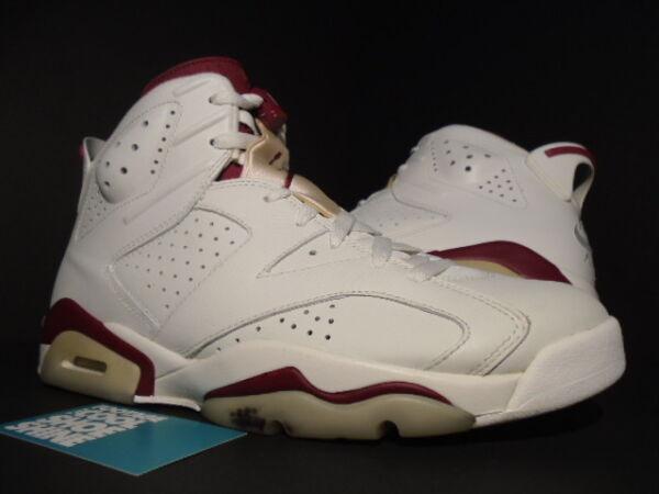 buy online b9522 a3443 Nike Air Jordan VI 6 Retro OFF WHITE NEW MAROON INFRARED RED 384664-116 10.5